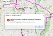 Ansicht in Google Earth Fehlermeldung